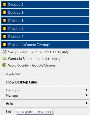 Enlarge DeskSpace Screenshot