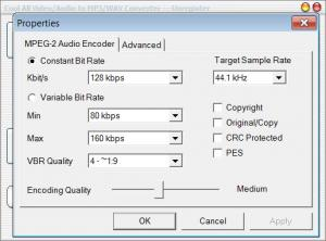 Enlarge Cool All Video/Audio to MP3/WAV Converter Screenshot
