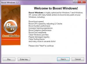 Enlarge Boost Windows Screenshot