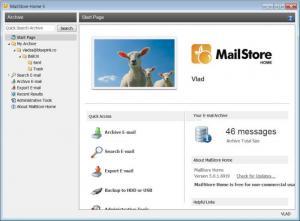 Enlarge MailStore Home Screenshot