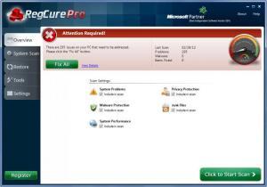 Enlarge RegCure Pro Screenshot