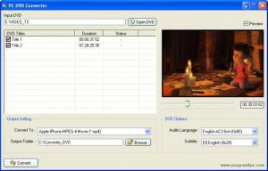 Enlarge PC DVD Converter Screenshot
