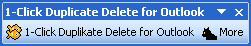Enlarge 1-Click Duplicate Delete for Outlook Screenshot