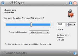 Enlarge USBCrypt Screenshot