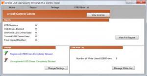 Enlarge uHook USB Disk Security Screenshot