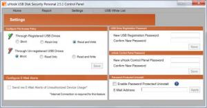 Enlarge uHook USB Disk Security Screenshot