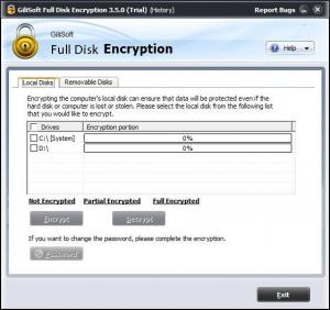 Enlarge GiliSoft Full Disk Encryption Screenshot