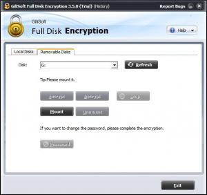 Enlarge GiliSoft Full Disk Encryption Screenshot