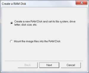 Enlarge GiliSoft RAMDisk Screenshot
