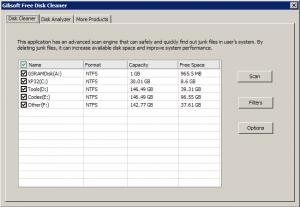Enlarge GiliSoft Free Disk Cleaner Screenshot