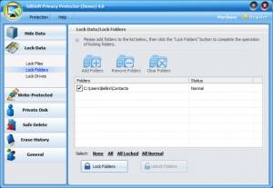 Enlarge GiliSoft Privacy Protector Screenshot