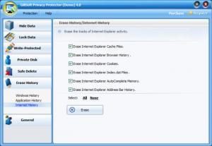 Enlarge GiliSoft Privacy Protector Screenshot