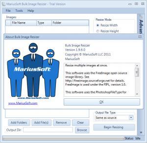 Enlarge Bulk Image Resizer Screenshot
