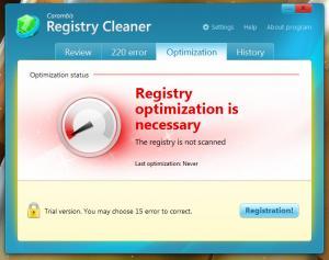 Enlarge Carambis Registry Cleaner Screenshot