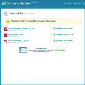 Enlarge Carambis Software Updater Screenshot