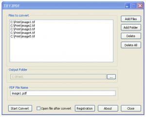Enlarge TIFF 2 PDF Screenshot