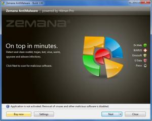 Enlarge Zemana AntiMalware Screenshot