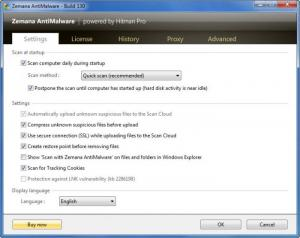 Enlarge Zemana AntiMalware Screenshot