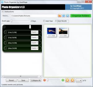Enlarge Photo Organizer Screenshot