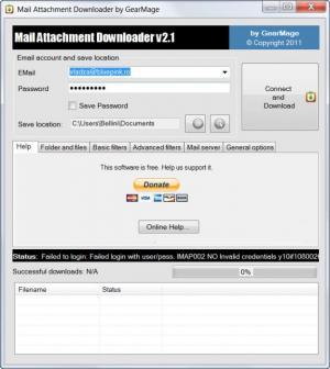 Enlarge Mail Attachment Downloader Screenshot