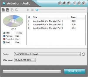Enlarge Astroburn Audio Screenshot
