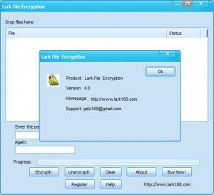 Enlarge Lark File Encryption Screenshot