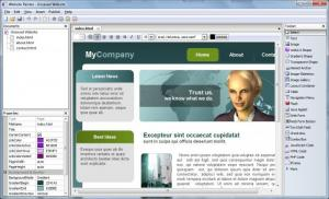 Enlarge WebsitePainter Screenshot