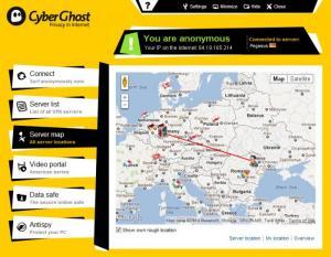 Enlarge CyberGhost VPN Screenshot