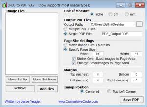 Enlarge JPEGtoPDF Screenshot