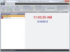 Enlarge CKZ Time Clock Screenshot