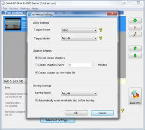 Enlarge Solid AVI DivX to DVD Burner Screenshot
