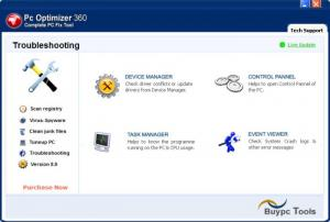 Enlarge PC Optimizer 360 Screenshot