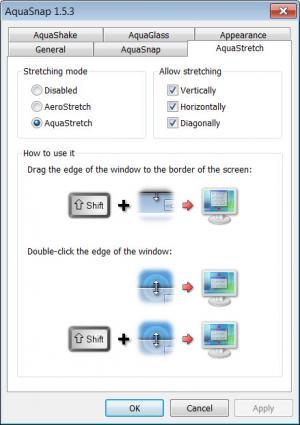 Enlarge AquaSnap Screenshot