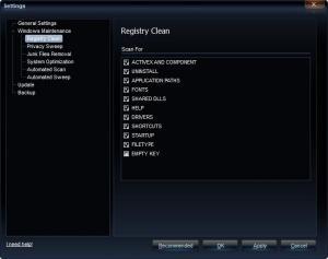 Enlarge Registry Cleaner Free Screenshot