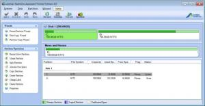 Enlarge Aomei Partition Assistant Home Edition Screenshot