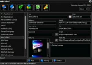 Enlarge WikCoffer Screenshot