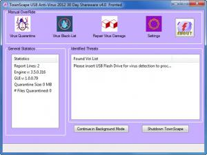 Enlarge TownScape USB Anti-Virus Screenshot
