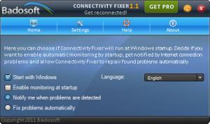Enlarge Connectivity Fixer Home Screenshot