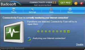 Enlarge Connectivity Fixer Home Screenshot