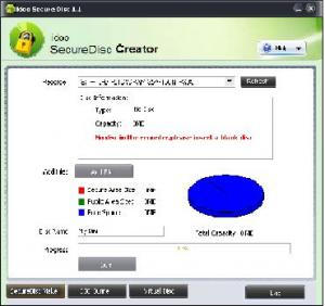 Enlarge idoo Secure Disc Creator Pro Screenshot