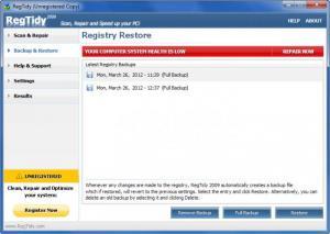 Enlarge RegTidy Screenshot