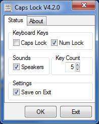 Enlarge Caps Lock Screenshot