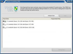 Enlarge Toolwiz Smart Defrag Screenshot