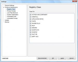Enlarge Advanced Registry Clear Screenshot