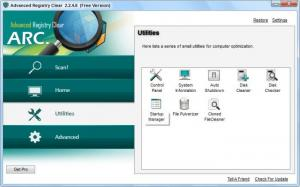 Enlarge Advanced Registry Clear Screenshot