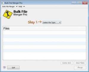 Enlarge Bulk File Merger Pro Screenshot