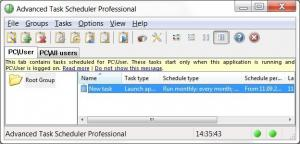 Enlarge Advanced Task Scheduler Network Screenshot