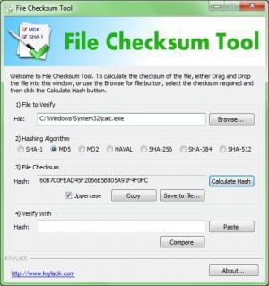 Enlarge File Checksum Tool Screenshot