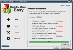 Enlarge Registry Clean Easy Screenshot
