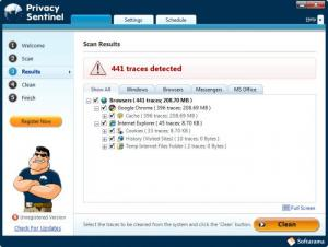 Enlarge Privacy Sentinel Screenshot